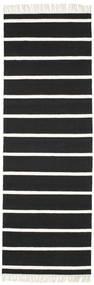 Tapis Dhurrie Stripe - Noir / Blanc CVD5798