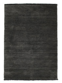 Handloom fringes - Schwarz / grau Teppich CVD5482
