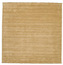Handloom Fringes - Beige Rug 250X250 Modern Square Light Brown Large (Wool, India)