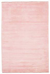 Handloom Fringes - Rosa Teppich  160X230 Moderner Hellrosa (Wolle, Indien)