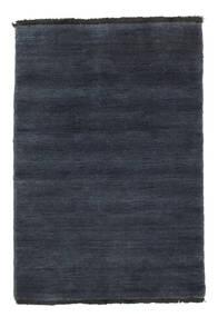 Handloom fringes - Tummansininen-matto CVD5458