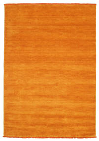 Handloom Fringes - Orange Teppich  140X200 Moderner Orange/Hellbraun (Wolle, Indien)