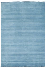 Handloom Fringes - Light Blue Rug 140X200 Modern Light Blue (Wool, India)