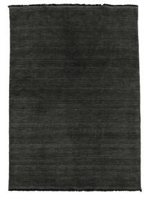Handloom Fringes - Black/Grey Rug 140X200 Modern Black (Wool, India)