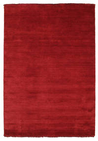 Handloom Fringes - Dark Red Covor 140X200 Modern Roşu (Lână, India