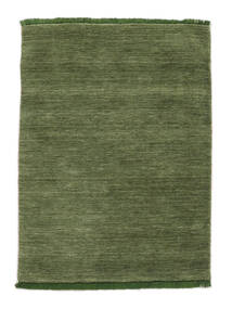 Handloom Fringes - Green Rug 140X200 Modern Olive Green/Dark Green (Wool, India)