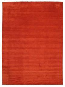 Handloom Fringes - Rdzawy/Czerwony Dywan 300X400 Nowoczesny Rdzawy/Czerwony Duży (Wełna, Indie)