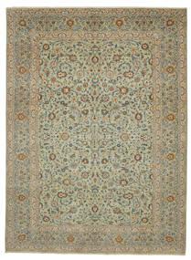 Keshan Patina Matta 293X400 Äkta Orientalisk Handknuten Olivgrön/Ljusbrun Stor (Ull, Persien/Iran)