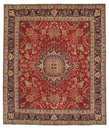 Tabriz Patina Rug 298X345 Authentic  Oriental Handknotted Dark Red/Brown Large (Wool, Persia/Iran)