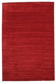 Handloom fringes - Mørk rød teppe CVD5249