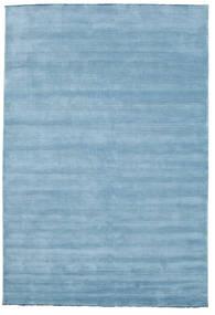 Handloom Fringes - Light Blue Rug 220X320 Modern Light Blue (Wool, India)
