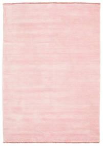 Handloom Fringes - Pink Rug 140X200 Modern Light Pink/Beige (Wool, India)