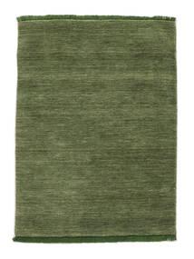 Handloom Fringes - Grøn Tæppe 120X180 Moderne Olivengrøn (Uld, Indien)