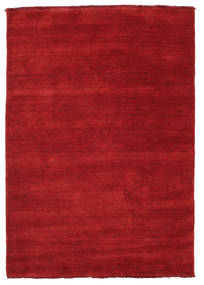 Handloom Fringes - Dark Red Rug 120X180 Modern Crimson Red (Wool, India)