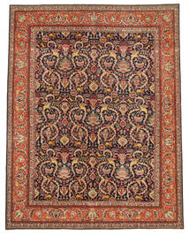 Tabriz Patina Figural Matta 300X386 Äkta Orientalisk Handknuten Ljusbrun/Brun Stor (Ull, Persien/Iran)