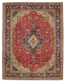Tabriz Patina Rug 300X384 Authentic  Oriental Handknotted Dark Brown/Rust Red Large (Wool, Persia/Iran)