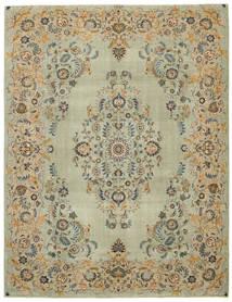 Keshan Patina Matta 300X392 Äkta Orientalisk Handknuten Ljusbrun/Pastellgrön Stor (Ull, Persien/Iran)