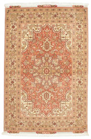 Tabriz 50 Raj Rug 103X159 Authentic Oriental Handknotted Light Brown/Light Pink (Wool/Silk, Persia/Iran)