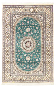 Nain 6La Habibian Rug 120X185 Authentic  Oriental Handknotted Light Grey/White/Creme (Wool/Silk, Persia/Iran)