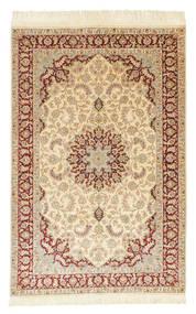 Ghom Silke Signerad: Ghom Behi Matta 100X154 Äkta Orientalisk Handknuten Beige/Ljusbrun (Silke, Persien/Iran)