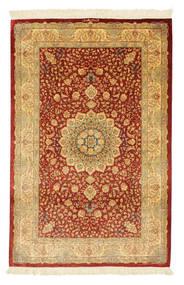 Ghom Silkki Allekirjoitettu: Ghom Mohammadi Matto 96X152 Itämainen Käsinsolmittu Vaaleanruskea/Ruoste (Silkki, Persia/Iran)