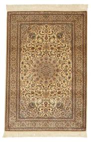 Ghom Silkki Allekirjoitettu: Ghom Ahmadi Matto 102X152 Itämainen Käsinsolmittu Vaaleanruskea/Ruskea (Silkki, Persia/Iran)