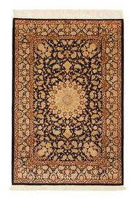 Ghom Silke Signert: Ghom Mohammadi Teppe 101X151 Ekte Orientalsk Håndknyttet Lysbrun/Mørk Rød/Brun (Silke, Persia/Iran)