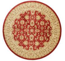 Ziegler Kaspin - Rot Teppich  Ø 300 Orientalischer Rund Dunkel Beige/Rost/Rot Großer ( Türkei)