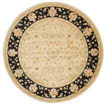 Farahan Ziegler - Beige Rug Ø 300 Oriental Round Dark Beige/Beige/Light Brown Large ( Turkey)