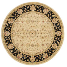 Farahan Ziegler - Beige Rug Ø 200 Oriental Round Dark Beige/Light Brown/Beige ( Turkey)