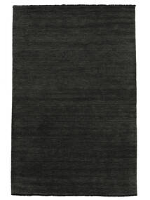 Handloom Fringes - Black/Grey Rug 250X350 Modern Dark Grey Large (Wool, India)