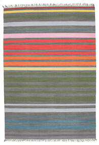 Rainbow Stripe - Grey Rug 160X230 Authentic  Modern Handwoven Light Grey/Dark Grey (Cotton, India)