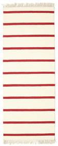 Dhurrie Stripe - White / Red carpet CVD3971