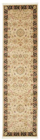 Farahan Ziegler - Beige Rug 80X300 Oriental Hallway Runner  Light Brown/Dark Beige ( Turkey)