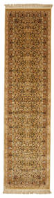 Kerman Diba - Marron Clair/Beige Tapis 80X300 Moderne Tapis Couloir Marron/Marron Clair ( Turquie)