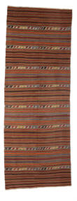 Kilim Semi Antique Turkish Rug 147X396 Authentic  Oriental Handwoven Hallway Runner  Light Brown/Brown (Wool, Turkey)