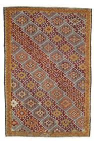 Kilim semi antique Turkish carpet XCGH1346