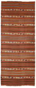 Kelim Semi Antický Turecko Koberec 163X401 Orientální Ruční Tkaní Běhoun Tmavě Červená/Tmavě Hnědá (Vlna, Turecko)