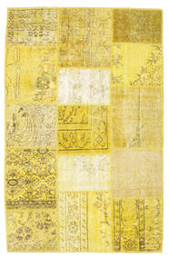 Patchwork Rug 120X180 Authentic  Modern Handknotted Yellow/Beige (Wool, Turkey)