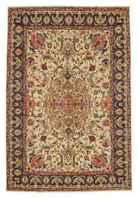 Tabriz Patina Teppe 217X328 Ekte Orientalsk Håndknyttet Brun/Mørk Grå (Ull, Persia/Iran)