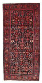 Kurdi Tapijt 124X265 Echt Oosters Handgeknoopt Zwart/Donkerrood (Wol, Perzië/Iran)