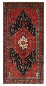 Kurdi Tæppe 157X324 Ægte Orientalsk Håndknyttet Tæppeløber Mørkerød/Sort (Uld, Persien/Iran)