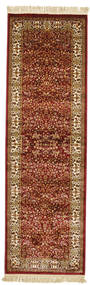 Kerman Diba - Red Rug 80X250 Modern Hallway Runner  Light Brown/Dark Red ( Turkey)