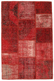 Patchwork Rug 120X183 Authentic  Modern Handknotted Dark Red/Rust Red (Wool, Turkey)