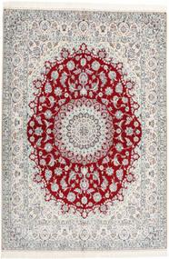 Nain 6La Habibian Teppich 160X230 Echter Orientalischer Handgeknüpfter Hellgrau/Beige (Wolle/Seide, Persien/Iran)