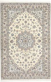 Naïn 6La Habibian Tapis 138X209 D'orient Fait Main Gris Clair/Beige (Laine/Soie, Perse/Iran)