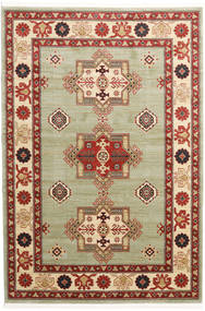 Marivan Kazak Rug 5′3″X7′7″ Modern Dark Red/Light Green ( Turkey)