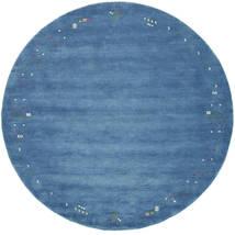 Gabbeh Loom Frame - Modrá Koberec Ø 250 Moderní Oválný Modrá/Světle Modrý Velký (Vlna, Indie)