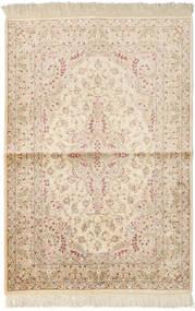 Ghom Seide Signatur: Vafai Teppich  101X148 Echter Orientalischer Handgeknüpfter Beige/Hellbraun (Seide, Persien/Iran)