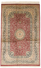 Qum Silk Signed: Razavi Rug 125X203 Authentic  Oriental Handknotted Light Brown/Brown (Silk, Persia/Iran)